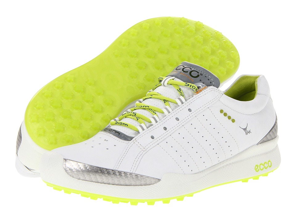 ECCO Golf - Biom Hybrid (White/Lime Punch) Women's Golf Shoes