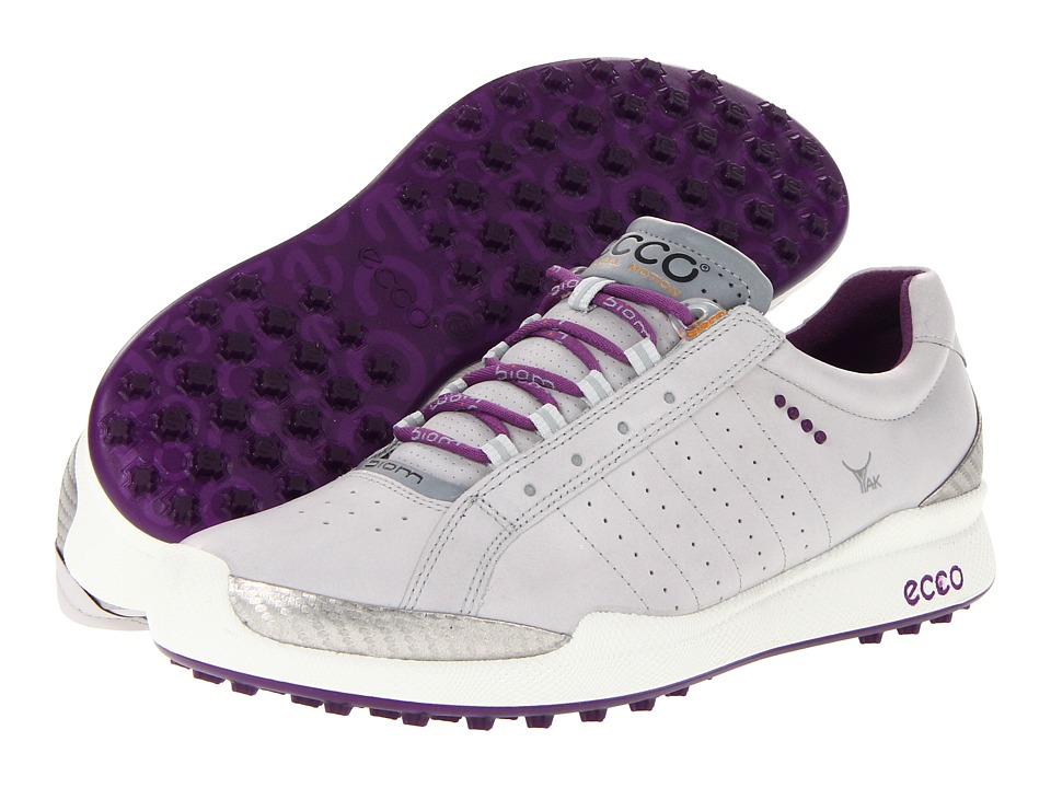ECCO Golf - Biom Hybrid (Concrete/Imperial Purple) Women's Golf Shoes