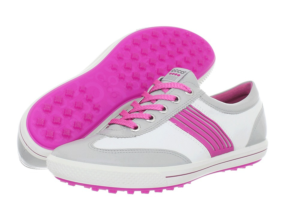 ECCO Golf - Golf Street Sport (Concrete/White/Candy) Women's Golf Shoes