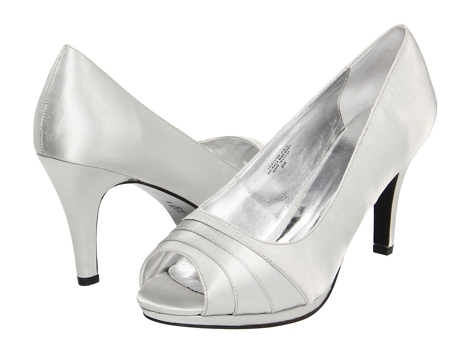 Bouquets - Carissa (Silver Satin) Women's Bridal Shoes