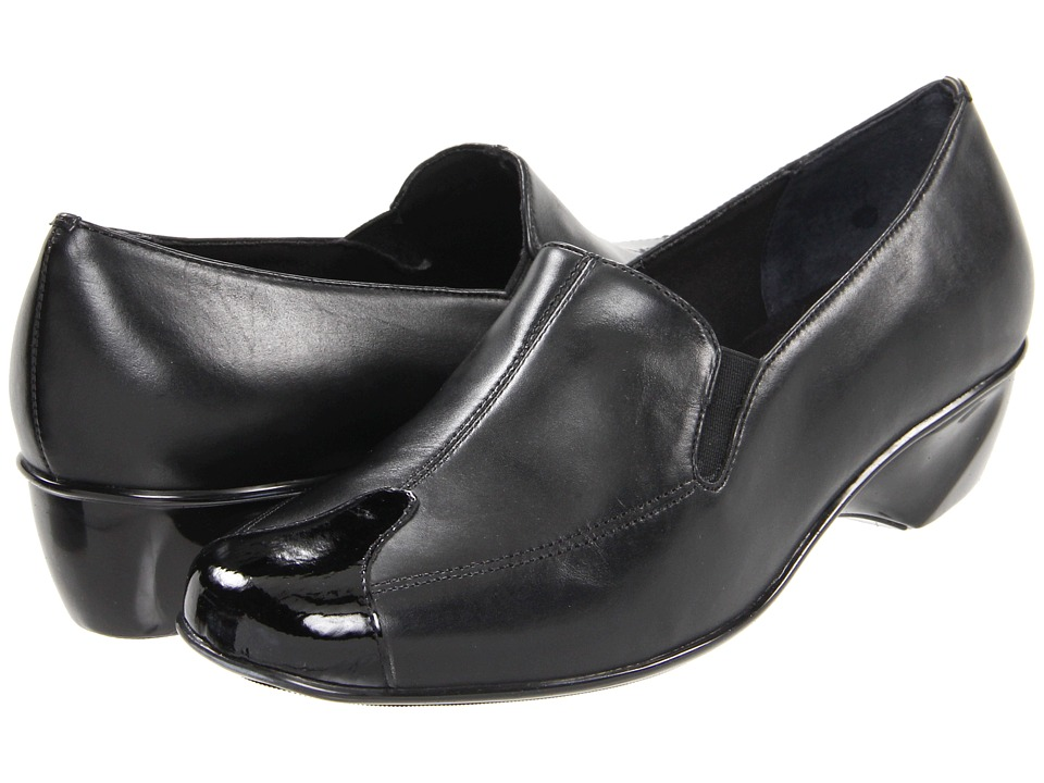 Walking Cradles - Tequila (Black Leather/Patent) Women