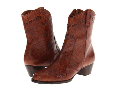 Walking Cradles - Cowgirl 2 (Tan Tooled Leather) Cowboy Boots