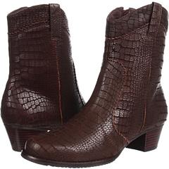 Walking Cradles Cowgirl (Brown Matte Croc Print Leather) Footwear