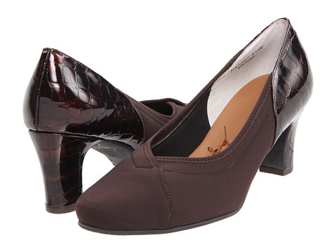 Ros Hommerson - Regal (Brown Gore/Croco Patent) Women's Slip-on Dress Shoes