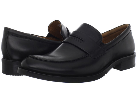 ECCO - Canberra Slip On (Black Montecarlo) Men's Slip on Shoes