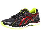 ASICS - GEL-Kayano 19 (Black/Red/Lime) - Footwear