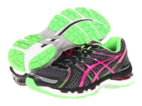 ASICS GEL-Kayano 19 (Black/Electric Pink/Apple) Women's Running Shoes