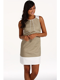 SALE! $51.99 - Save $77 on Anne Klein Double Weave Shift Dress (Tan) Apparel - 59.70% OFF $129.00