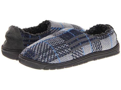 MUK LUKS - Tom (Blue / Grey) Men's Slippers