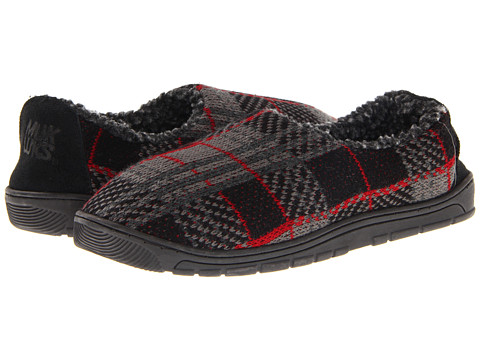 MUK LUKS - Tom (Grey / Red) Men's Slippers
