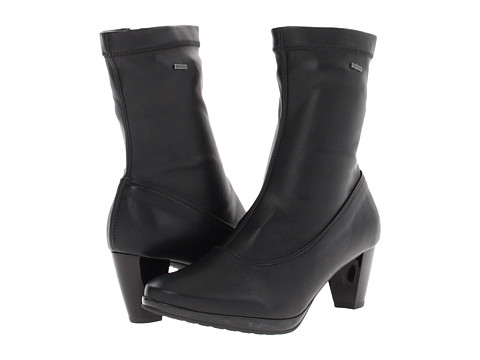 ara - Thelma GORE-TEX (Black Leather) Women's Zip Boots