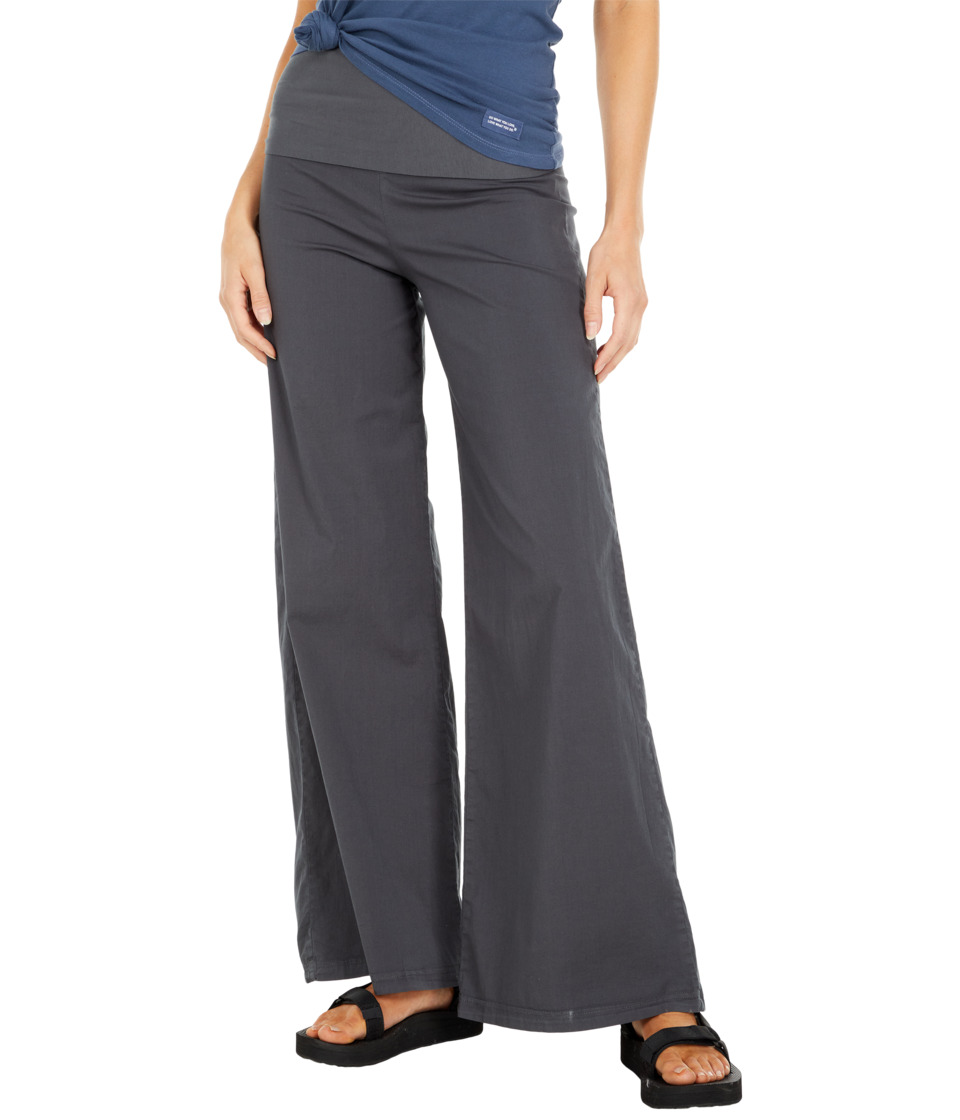 XCVI - Fold-Over Palazzo (Charcoal) Women