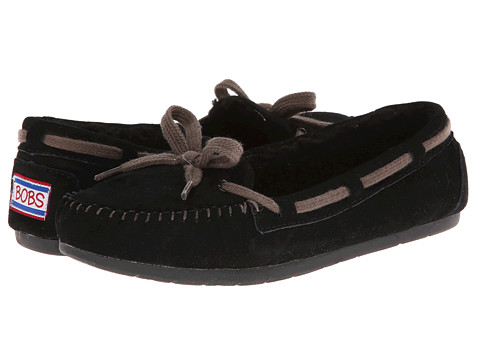 BOBS from SKECHERS - Bobs Lux - Hugs Kisses (Black) Women's Moccasin Shoes