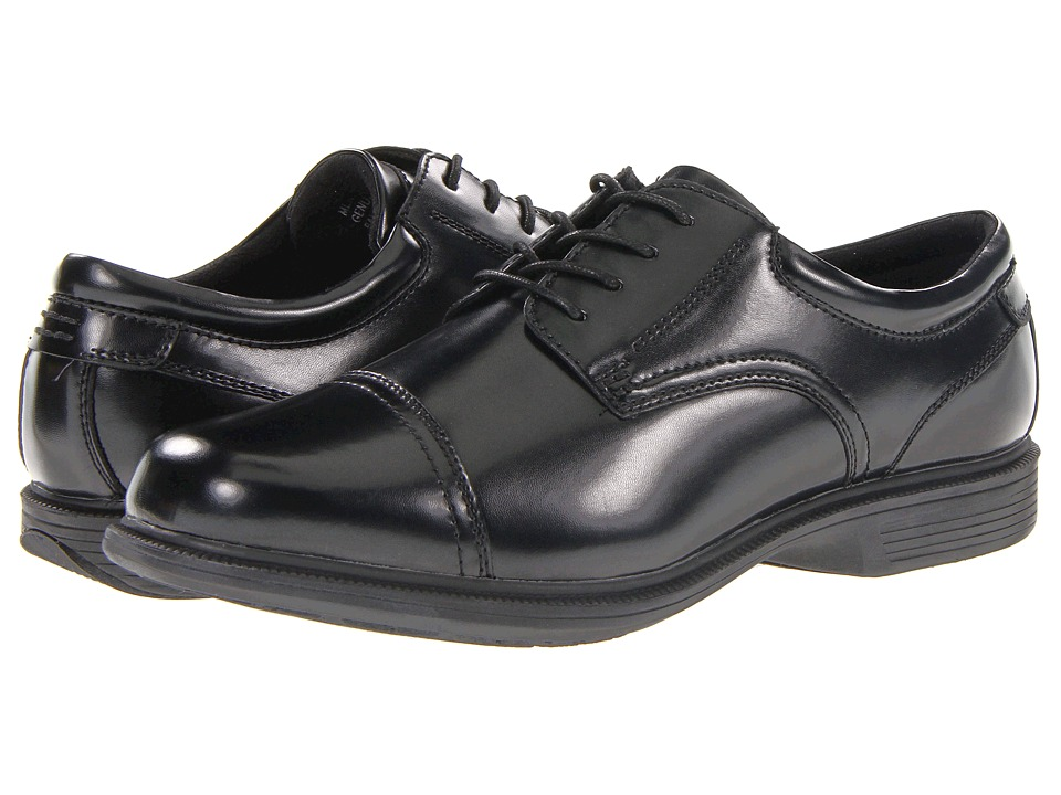 Nunn Bush - Beale St. Cap Toe Oxford (Black) Men's Lace Up Cap Toe Shoes