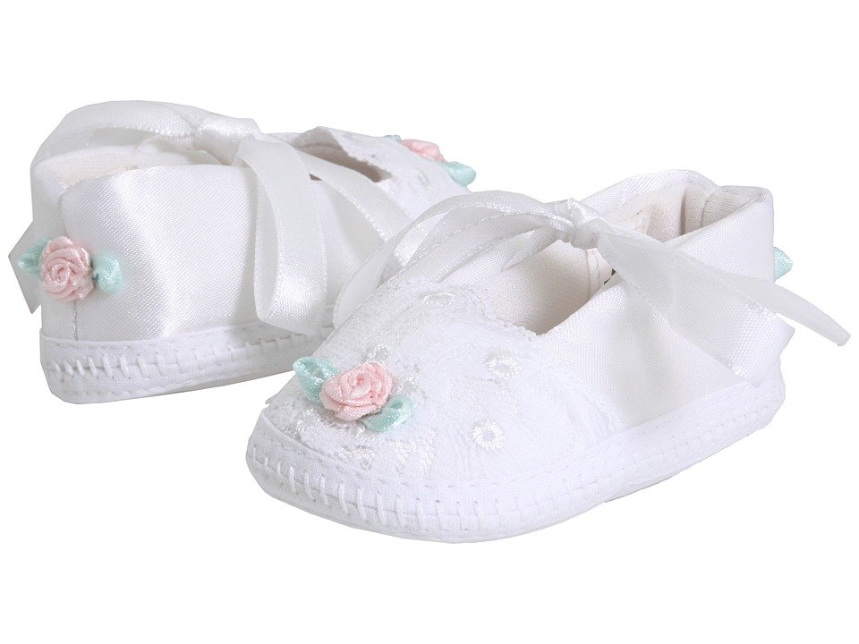 Baby Deer - Dainty (Infant) (White With Pink And Sequin Trim) Girls Shoes