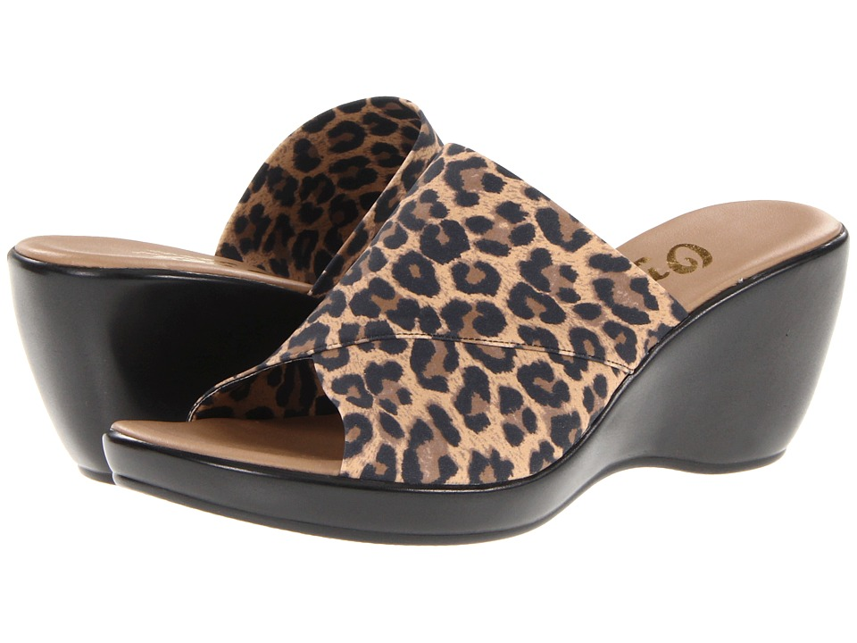 Onex - Deena (Leopard Elastic) Women's Wedge Shoes