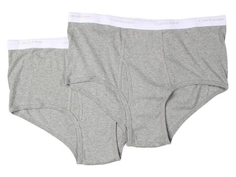 Calvin Klein Underwear - Big Tall Big Brief 2-Pack U3280 (Heather Grey) Men's Underwear