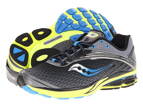 Saucony - Cortana 2 (Black/Blue/Citron) Men's Running Shoes
