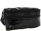 LeSportsac Double Zip Belt Bag (Black Patent)
