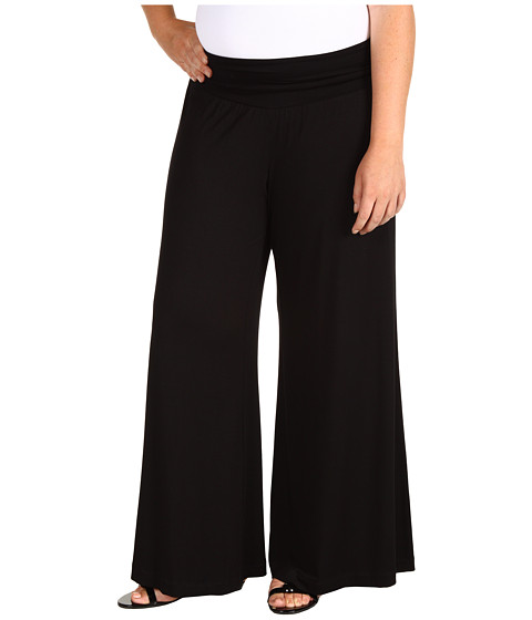 Karen Kane Plus - Plus Size Palazzo Pant (Black) Women's Casual Pants
