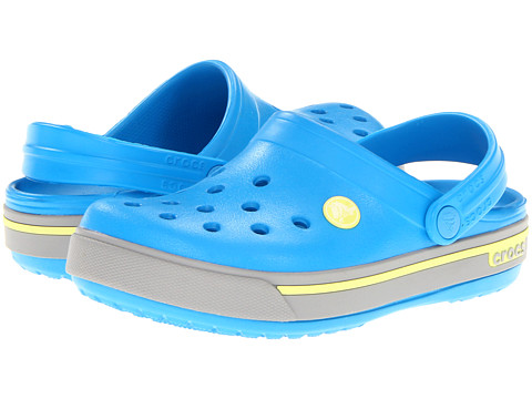 Crocs Kids - Crocband II.5 (Toddler/Little Kid) (Ocean/Citrus) Kids Shoes