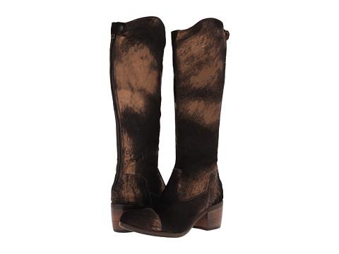 Frye - Felicity Back Zip (Bronze Metallic Haircalf) Cowboy Boots
