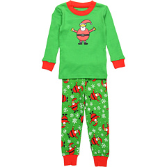 SALE! $11.99 - Save $19 on Sara`s Prints Kids Long John PJs (Infant) (Snowing Santas) Apparel - 61.32% OFF $31.00