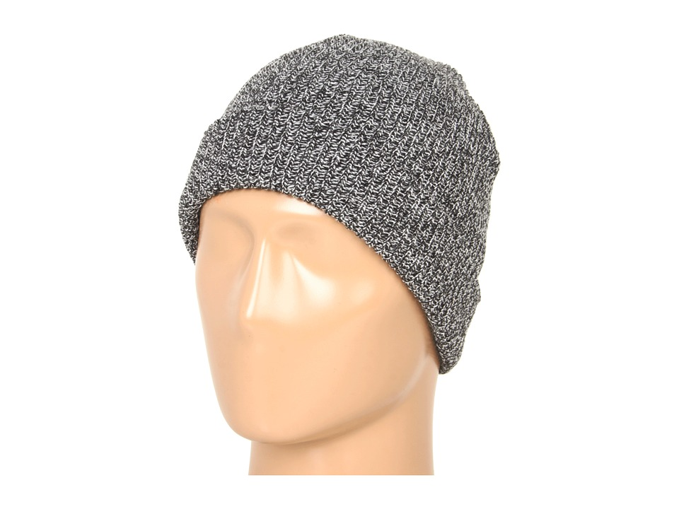 Brixton - Heist Beanie (Black/Heather Grey) Beanies