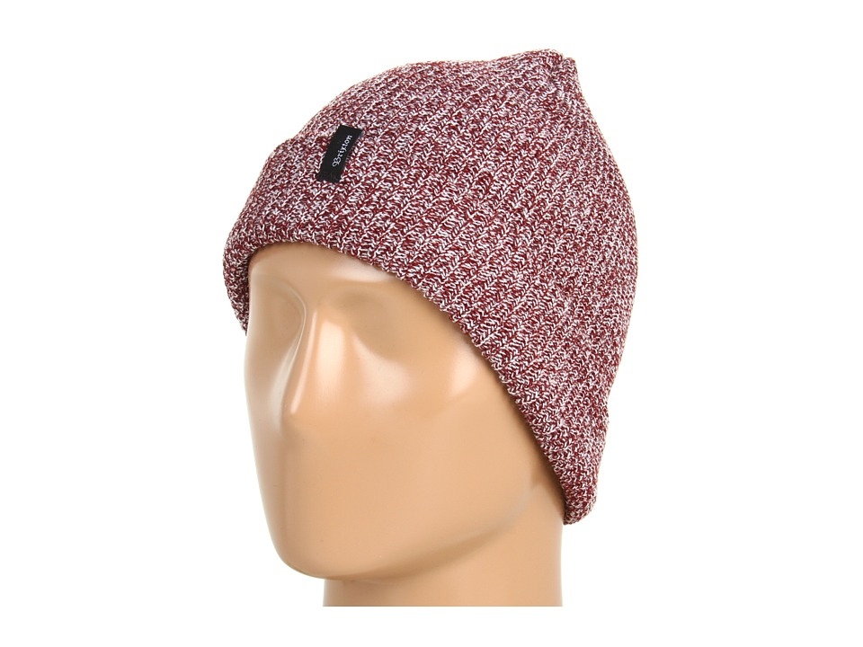 Brixton - Heist Beanie (Burgundy Heather) Beanies