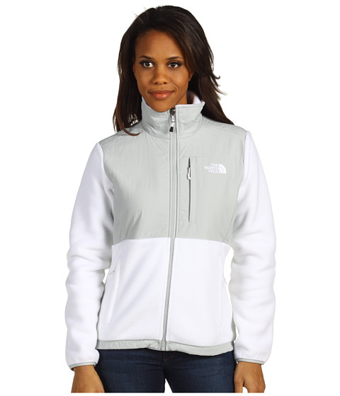 The North Face - Denali Jacket (R TNF White/High Rise Grey) Women