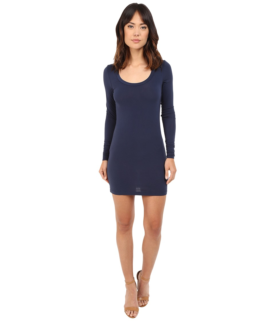 Splendid Stretch Sheer Layers Tunic (Navy) Women