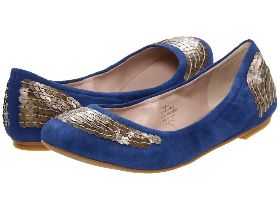 Joan & David - Ezza (Light Blue Suede) Women's Flat Shoes