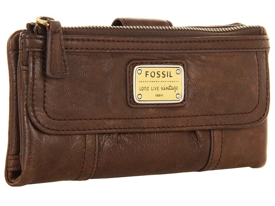 Fossil - Emory Clutch (Espresso) Wallet Handbags