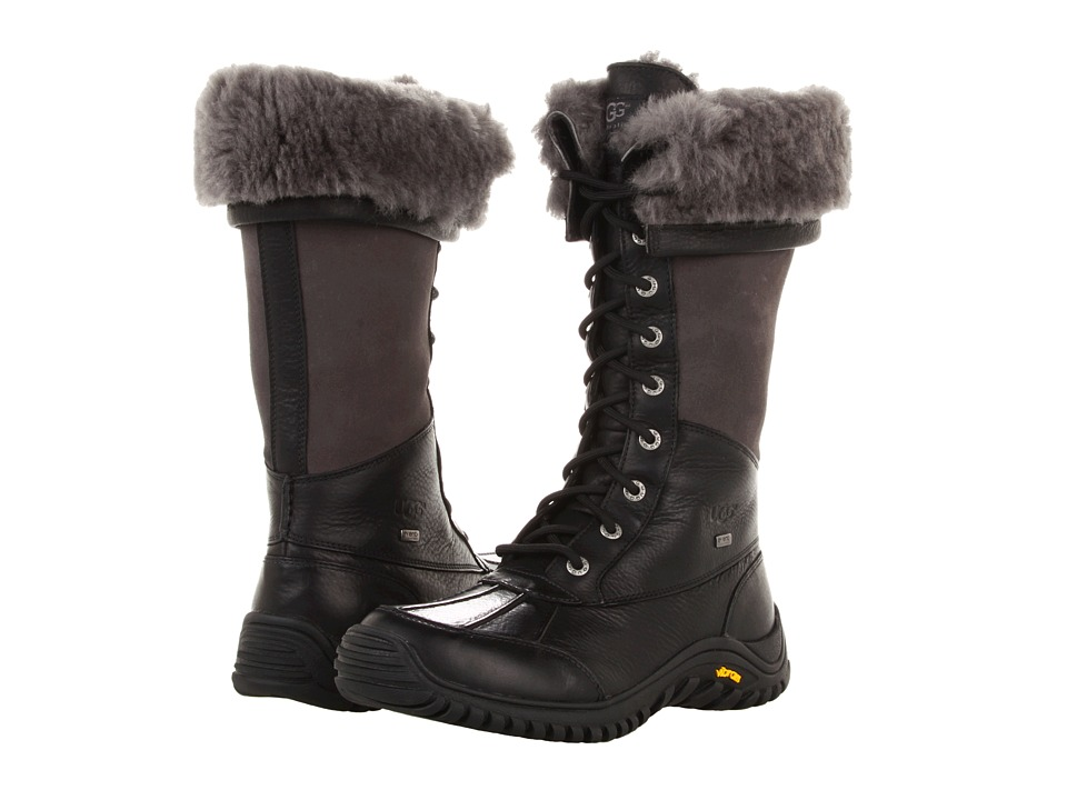 UGG Adirondack Tall (Black) Women's Cold Weather Boots