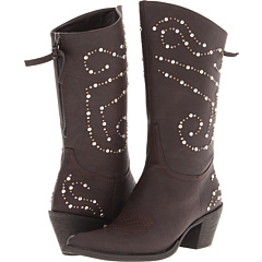 Roper Rockstar Studded Back Zip Boot (Brown) Footwear
