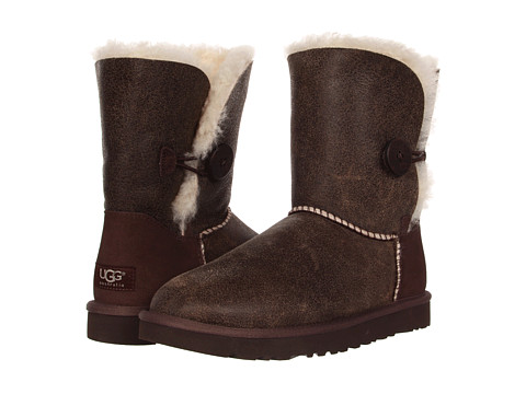 UGG - Bailey Button Bomber (Bomber Jacket Chocolate/Natural) Women's Pull-on Boots