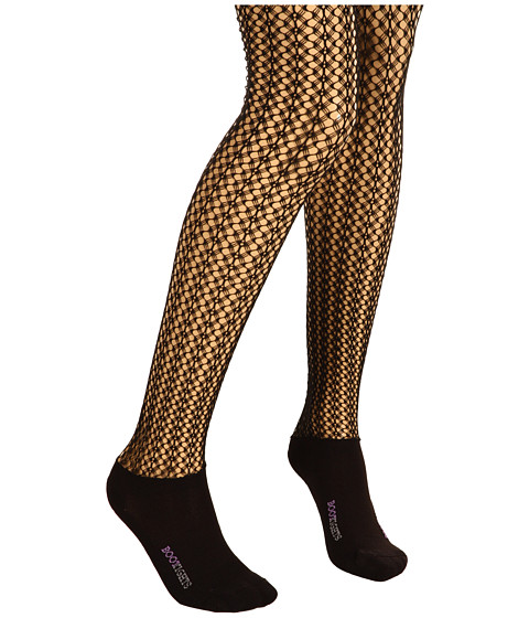 BOOTIGHTS - Rochelle Open Knit Tight/Ankle Sock (Black) Hose