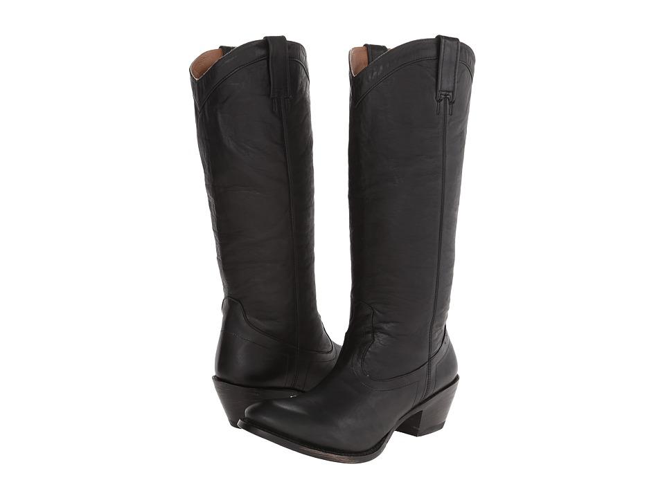 Stetson 15 Rustic (Ficcini Black) Cowboy Boots