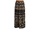 Calvin Klein - Printed Peasant Skirt (Black/Dark Khaki Multi) - Apparel