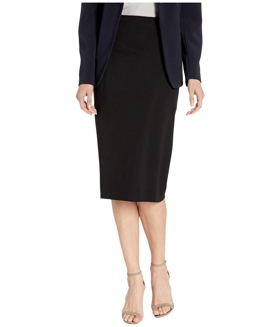 Vince Camuto - Essentials Ponte Long Fitted Skirt (Rich Black) Women's Skirt