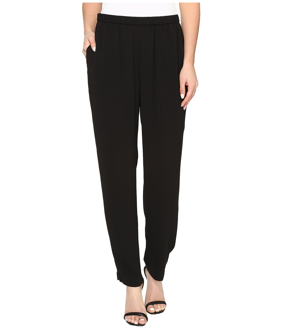 Vince Camuto - Soft Texture Slim Leg Texture Pull-On Pant (Rich Black) Women's Clothing
