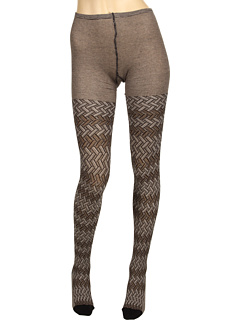 SALE! $66.99 - Save $98 on Missoni Desideria Zigzag Stockings (Brown Grey) Hosiery - 59.40% OFF $165.00