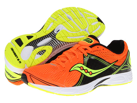 Saucony - Fastwitch 6 (Orange/Black/Citron) Men's Running Shoes