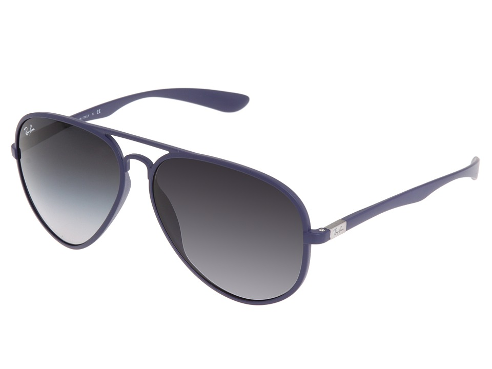 Ray-Ban - RB4180 Large 58mm (Matte Blue) Plastic Frame Fashion Sunglasses