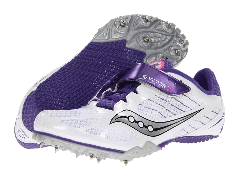 Saucony - Spitfire 2 (White/Purple) Women's Running Shoes