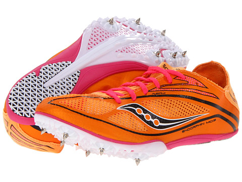 Saucony - Endorphin MD3 (Orange/Pink) Women's Running Shoes