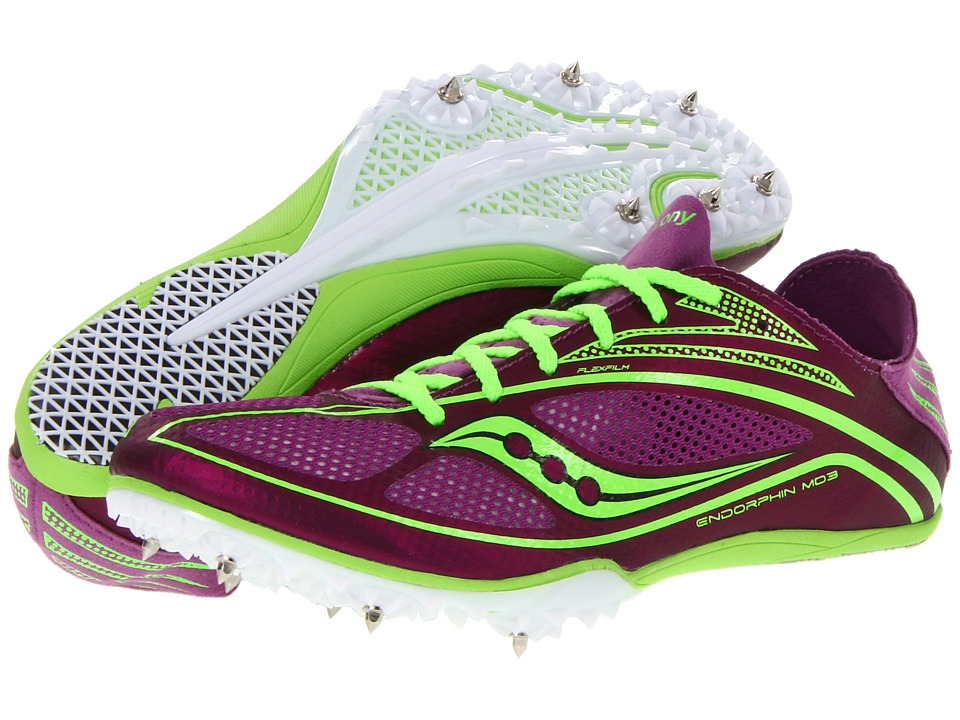 Saucony - Endorphin MD3 (Purple/Slime) Women