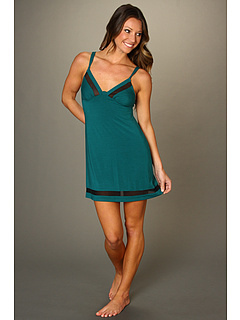 SALE! $42.99 - Save $22 on OnGossamer Whisper Knit w Sheer Insets Nightie (Rain Forest) Apparel - 33.86% OFF $65.00