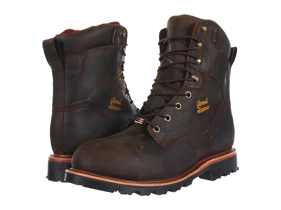 Chippewa - 8 Waterproof Insulated Steel Toe Lace Up (Brown) Men's Work Boots
