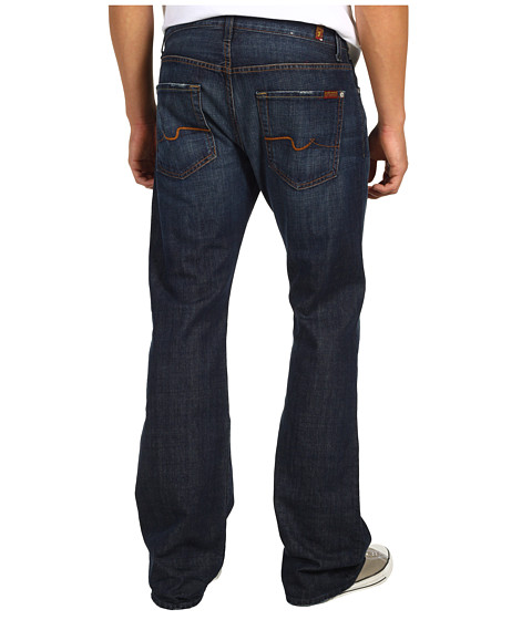 7 For All Mankind - Brett Bootcut No Break 32 Inseam in New York Dark (New York Dark) Men
